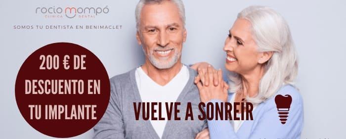 Promoción implantes dentales Valencia